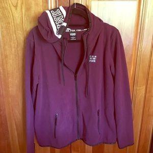Large PINK VS Branded Full Zip-Up Jacket
